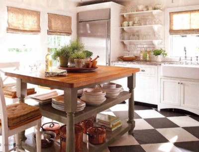 Donna Talley's house-kitchen checkerboard floor