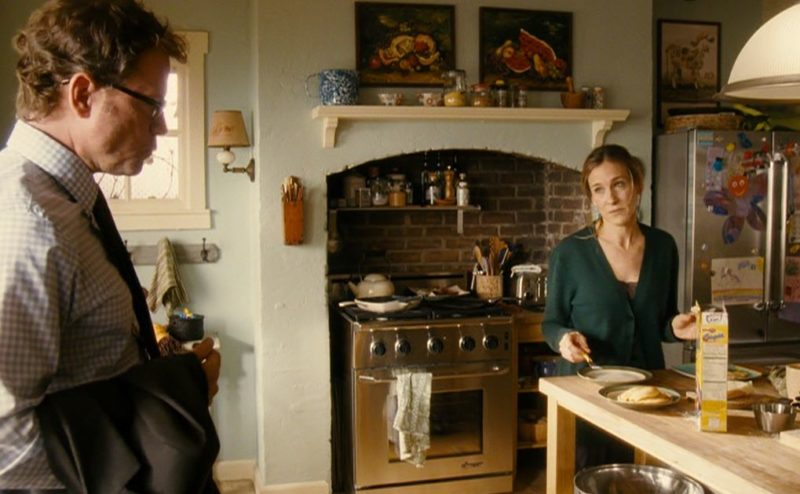 Sarah Jessica Parker standing in a kitchen
