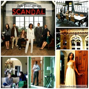 Set Design on TV Show Scandal Kerry Washington collage