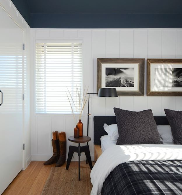 Blue Bedroom Plaid Board And Batten Hooked On Houses