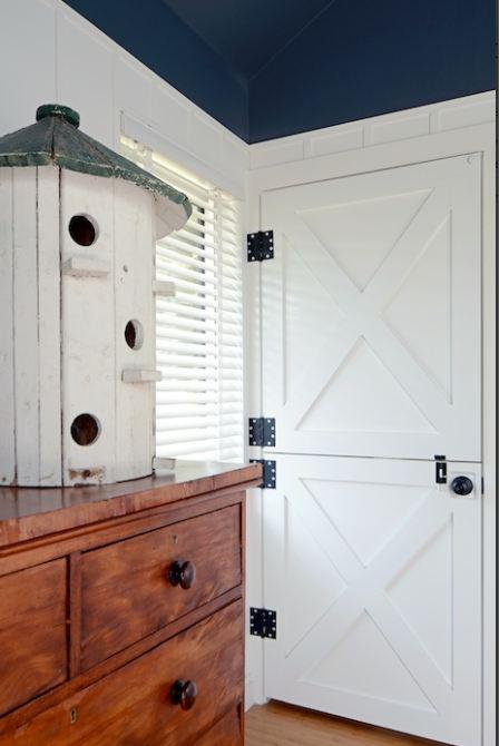 Dutch doors in bedroom