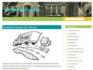 screenshot of front page of blog when I first started it in 2008