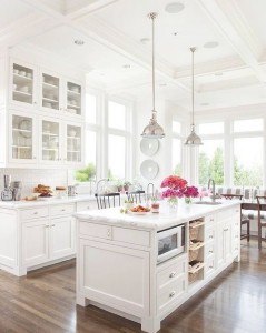 white kitchen from BHG