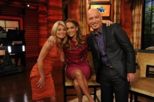 Howie Mandel on Live! with Kelly and Jennifer Lopez