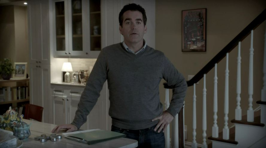 Brian d\'Arcy James standing in the kitchen