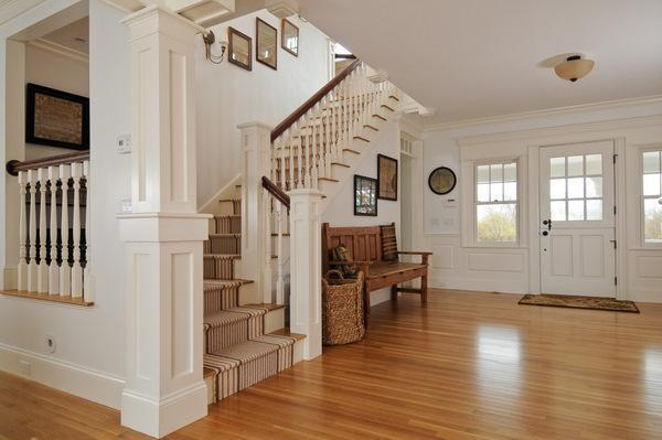 Replica Of Grey Gardens House In Cape Cod staircase