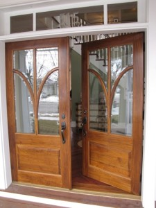 double front doors wood
