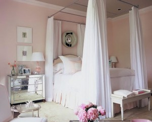 pink bedroom decorated by Phoebe Howard