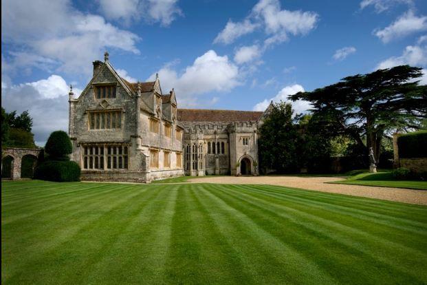 front exterior of Athelhampton House, an historic Tudor in England