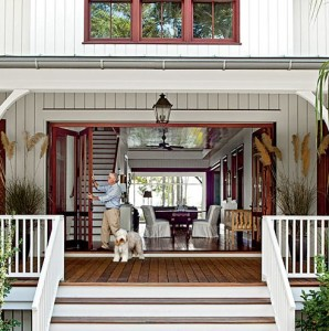 Dogtrot style home in South Carolina-open entry