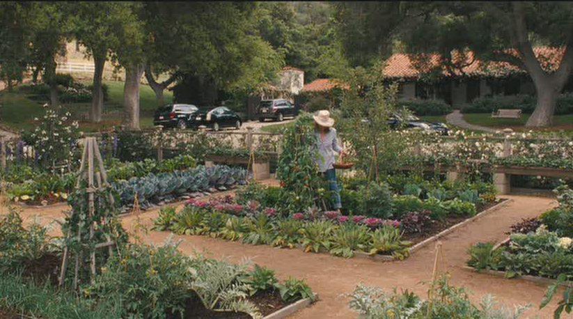 Meryl Streep's cutting garden It's Complicated
