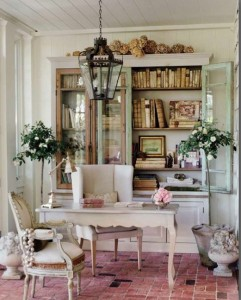 Patina Style sunroom work space