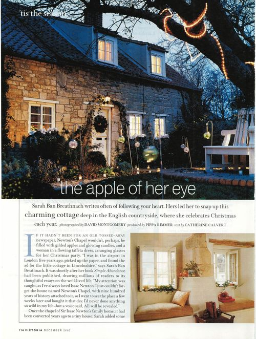 scan of 2002 article in Victoria magazine about Sarah Ban Breathnach\'s house