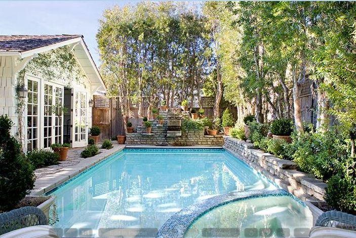 Backyard Pool Santa Monica House Hooked On Houses