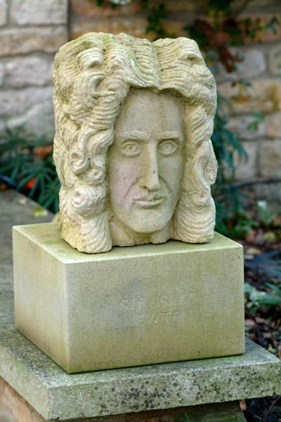 A bust of Sir Isaac Newton