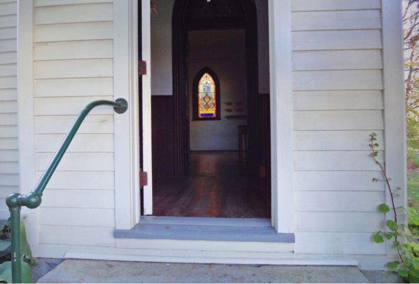 door open to church