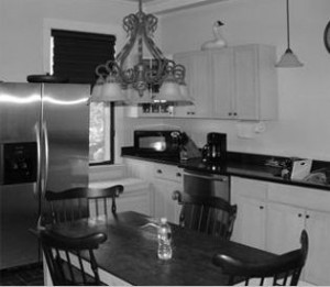 the kitchen before remodeling
