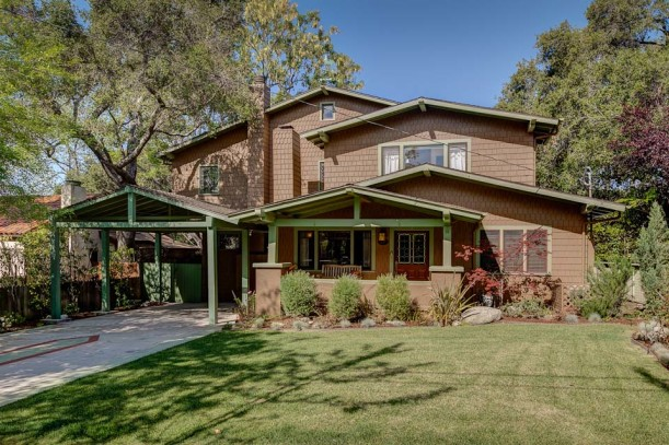 A transitional craftsman in pasadena s historic highlands for Craftsman homes for sale in california
