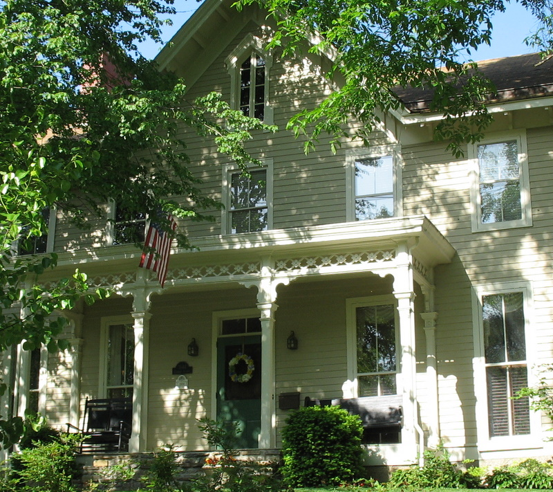 exterior of Greek Revival house with front porch