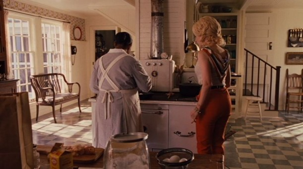 Minnie working in the kitchen with Celia Foote