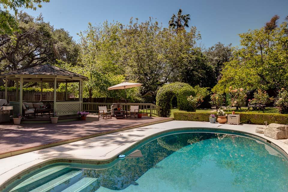 Backyard Gazebo And Pool Hooked On Houses
