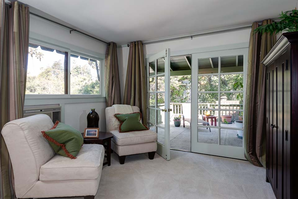 Sitting Area With French Doors To Patio