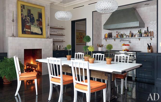 Brooke Shields kitchen Manhattan townhouse-AD