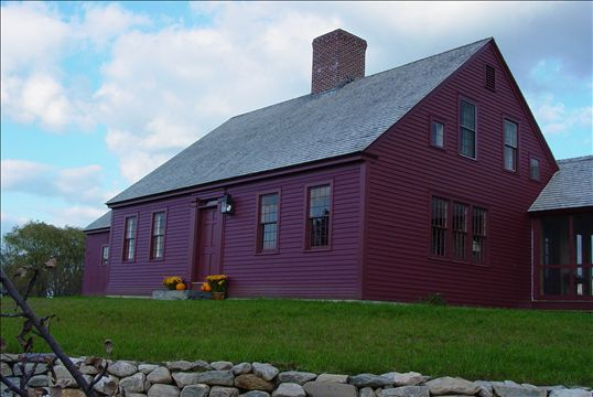 New houses being built with classic new england style for Colonial reproduction house plans