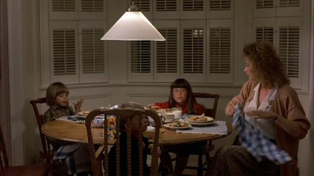 kids sitting at kitchen table