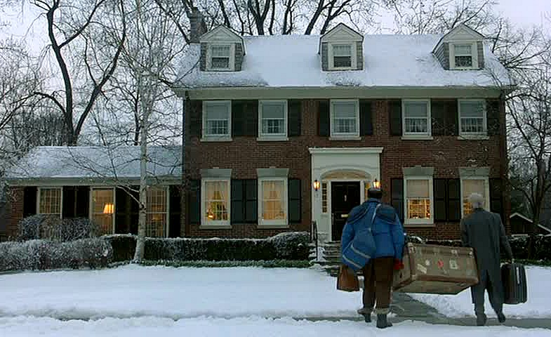 Planes Trains and Automobiles movie red brick house