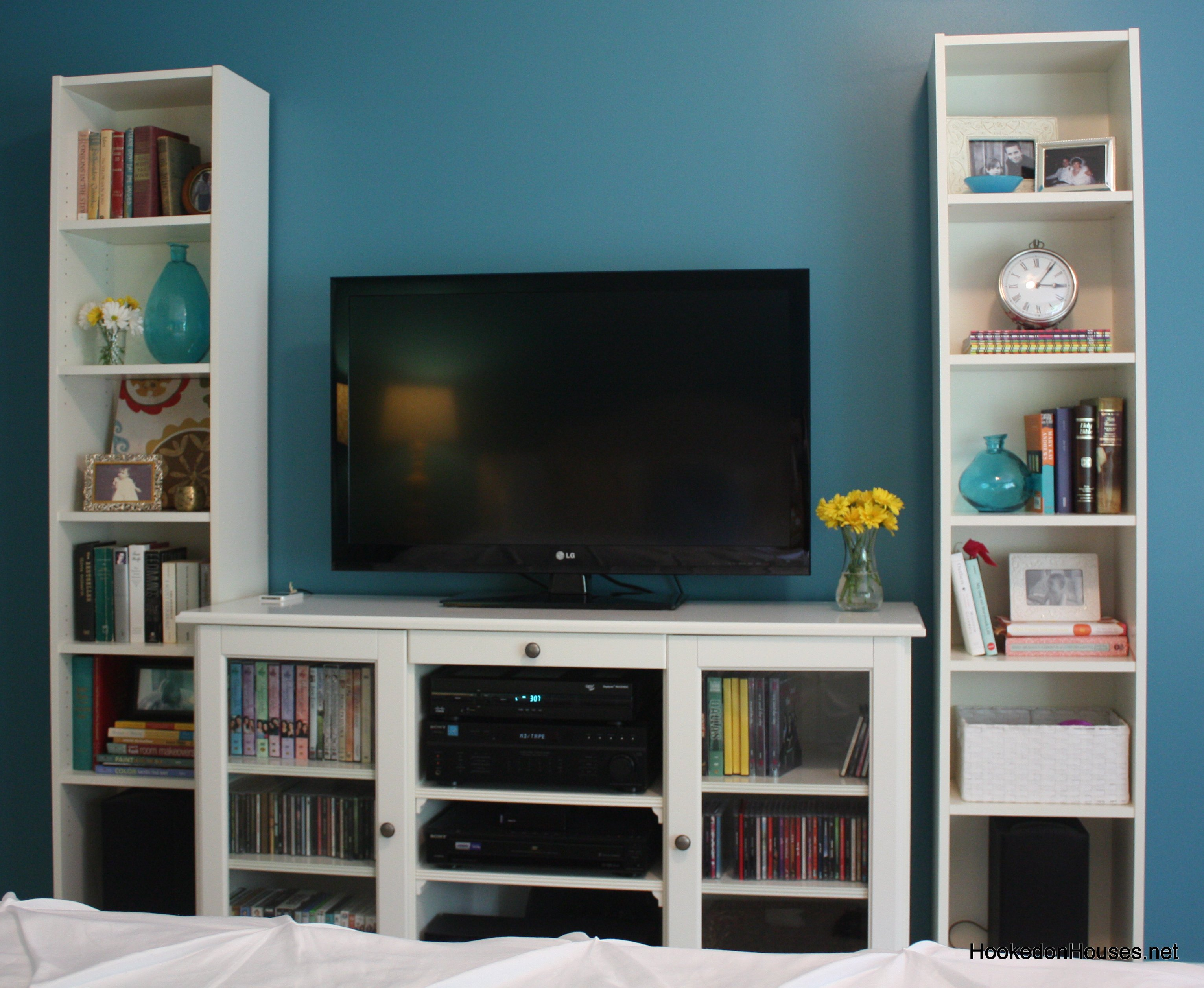 TV cabinet and bookshelves - Hooked on Houses