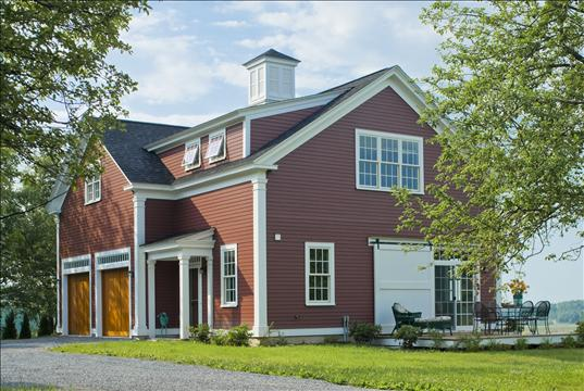 New houses being built with classic new england style for Modular carriage house