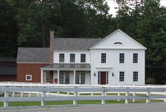 a new house built to look old in New England