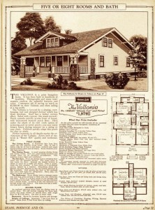 original sales sheet and floor plans for a Sears Kit home called Vallonia