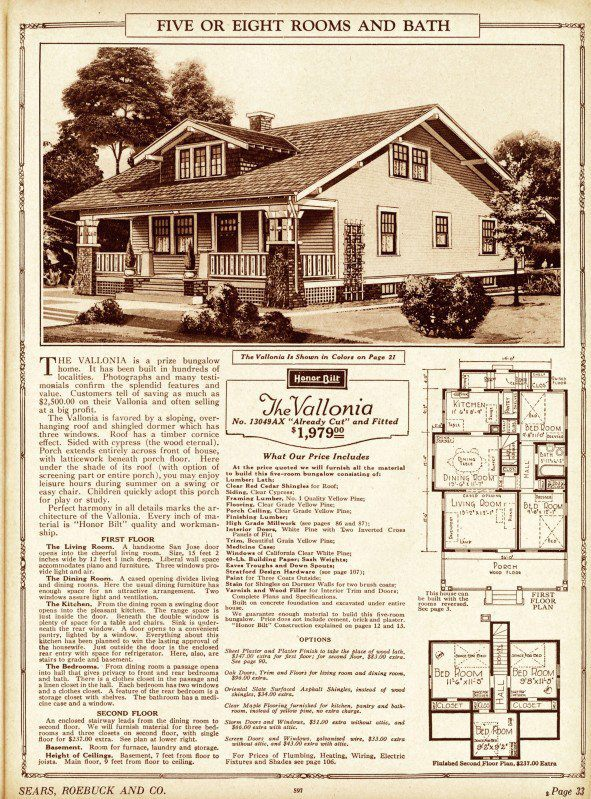 1923 Sears Kit House Catalog - Antique Home::Vintage House Plans