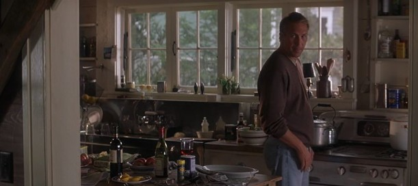 Kevin Costner in the kitchen