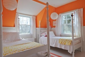 orange bedroom cottage Hyannis Port