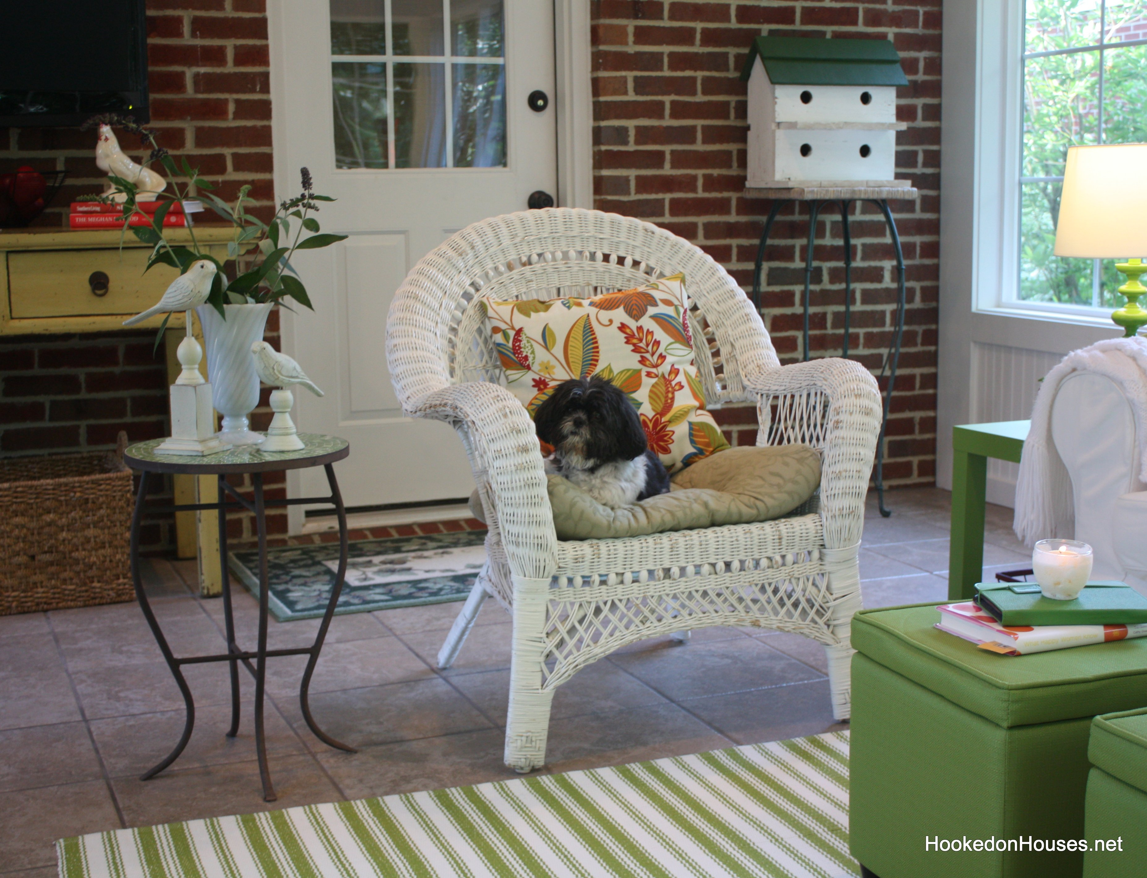 Wicker Chair Sunroom 2 Hooked On Houses
