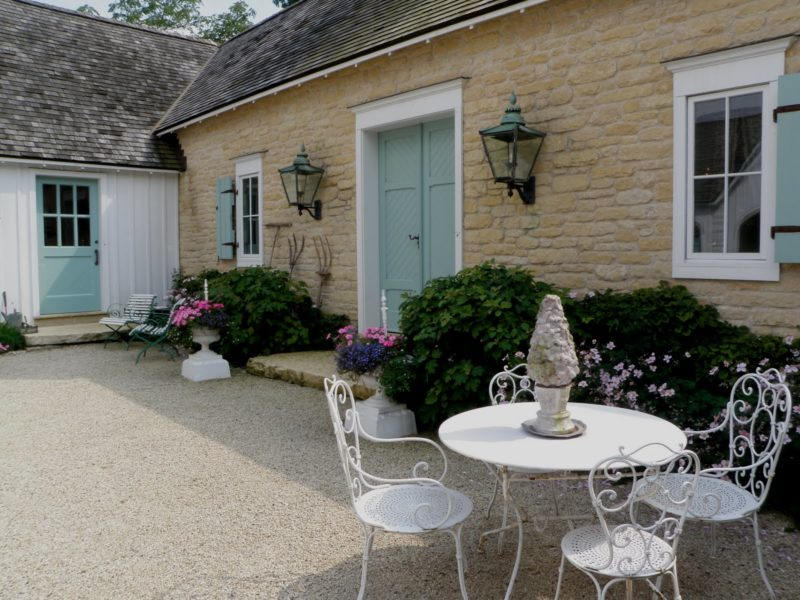 French Country style farmhouse exterior