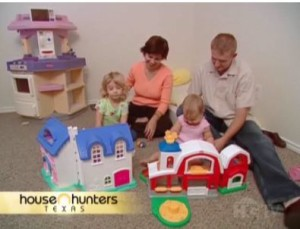 Jensen family on House Hunters Texas