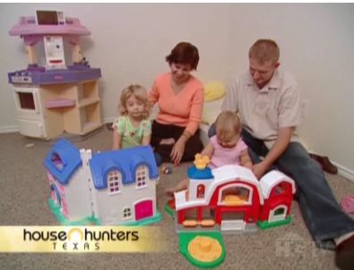 screenshot from House Hunters of family in playroom
