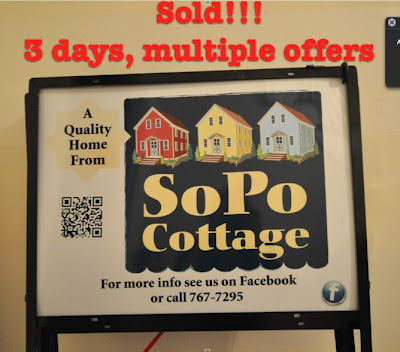 For Sale sign saying the house sold in three days with multiple offers