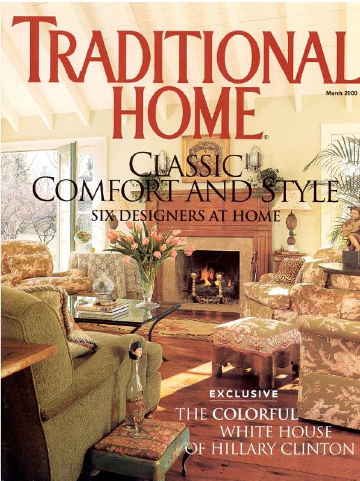 cover of Traditional Home Magazine issue in 2000 with living room photo