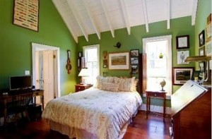 green bedroom in listing Burr Ridge