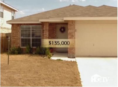 A house for sale for $135,000 on House Hunters