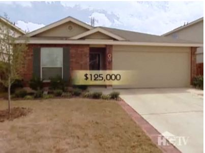 A house for sale for $125,000 on House Hunters