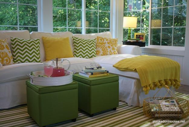 Ektorp sofa in the sunroom 6