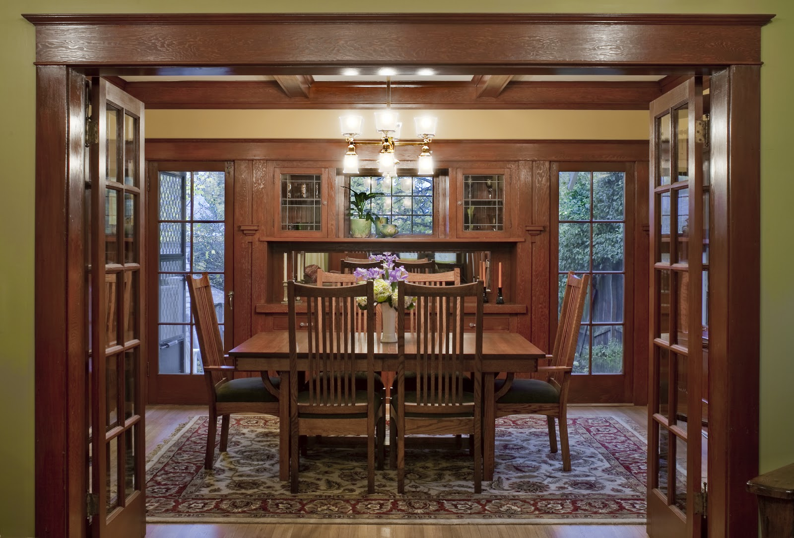 Craftsman done on pinterest craftsman craftsman style for Dining room suites