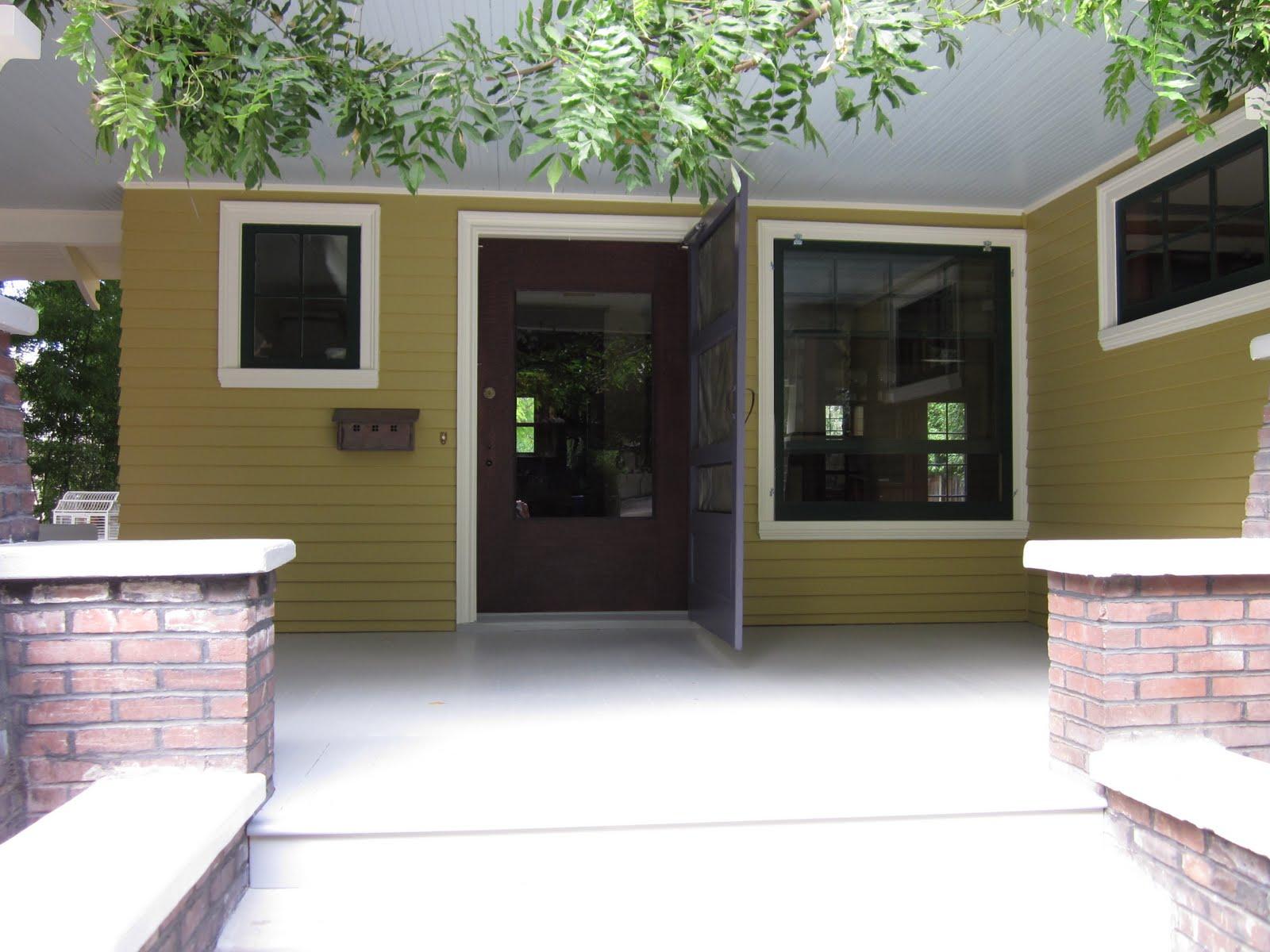 front porch and front door of Craftsman
