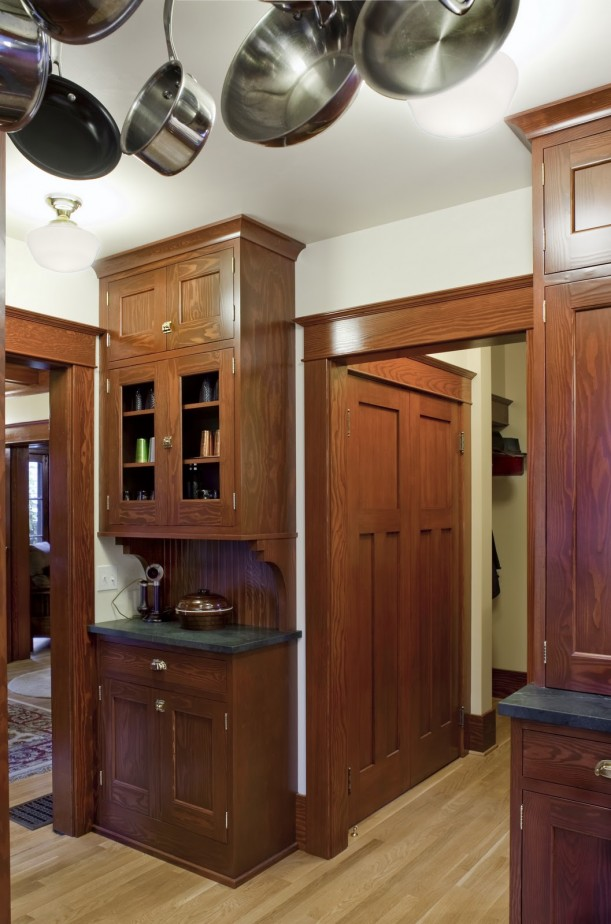 Before after reviving a 1912 craftsman in portland for Craftsman style kitchen remodel